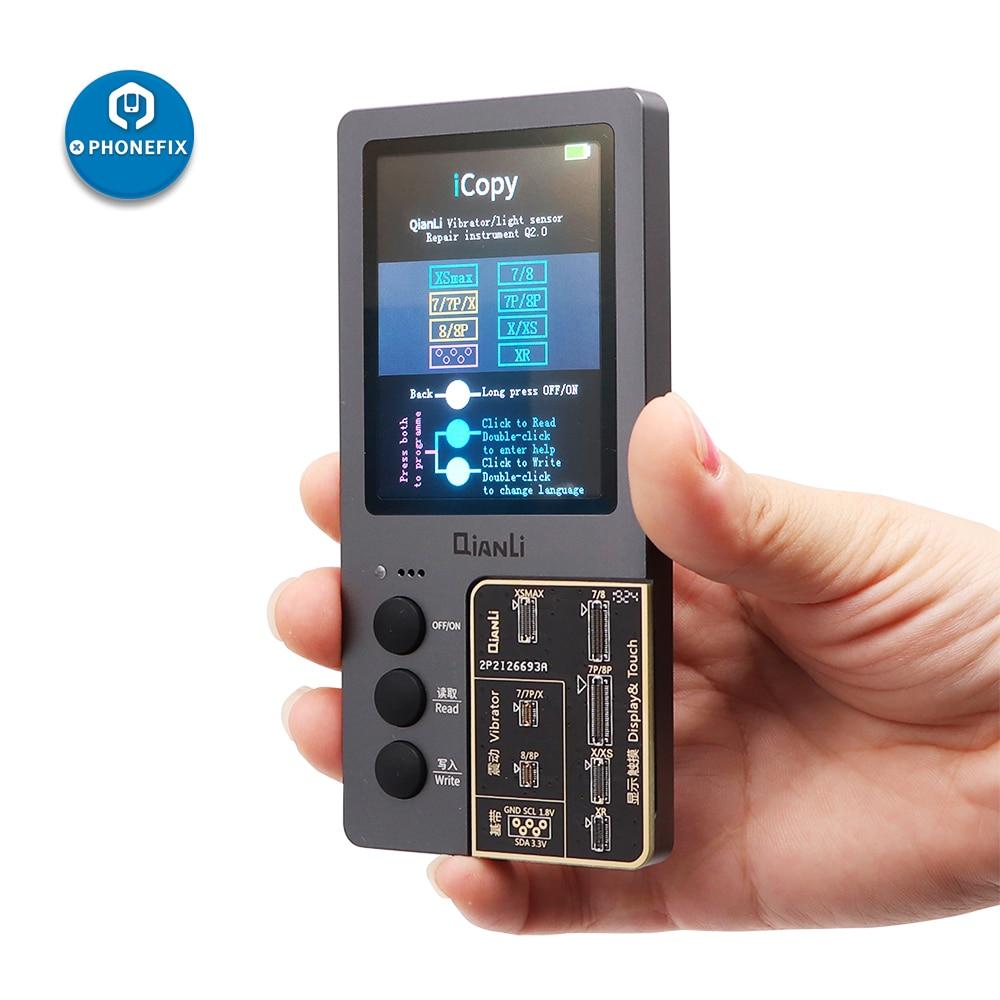 QIANLI ICopy LCD Screen Photometer For IPhone 7 8 8P X XR XS Max Photosensitive Original Color Battery Repair Programmer