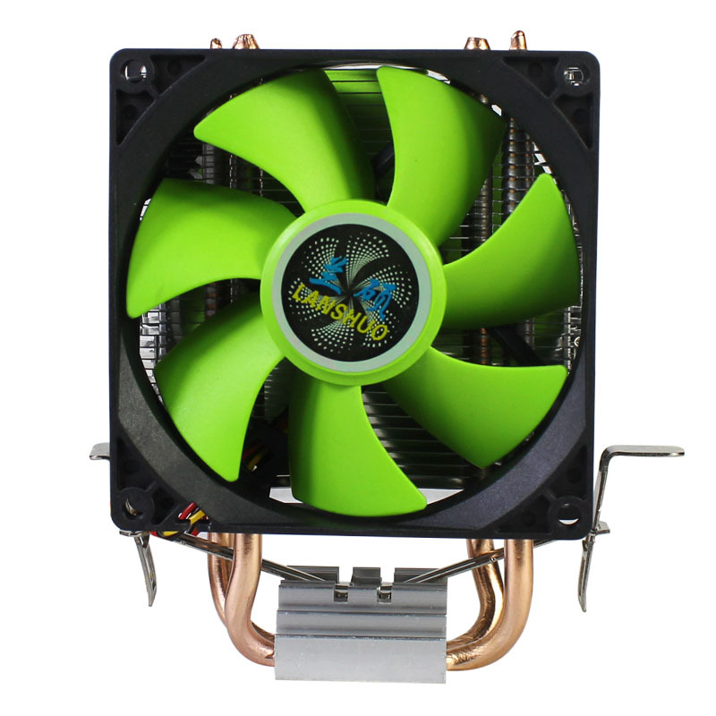 90mm 3Pin CPU <font><b>Cooler</b></font> Heatsink Quiet fans for Intel LGA775/<font><b>1156</b></font>/1155 for AMD AM2/AM2+/AM3 Dual-sided Fan image