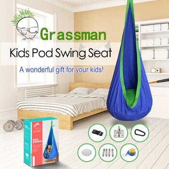 ARRIES Creative Kid Hammock Garden Furniture Pod Swings Chair Indoor Outdoor Hanging Seat Child Cocoon Swing Seat Patio Portable