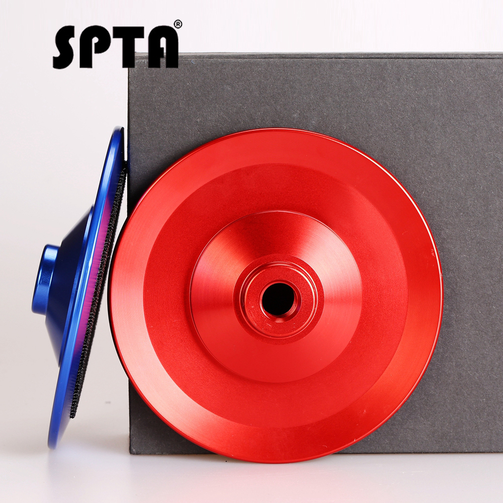 SPTA 5inch Aluminum Back Pad For 5 Inch Polishing Pad 125mm Aluminum Based Backer Backing Holder Polisher Backing Plate