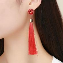 Tassel earrings fashion creative bohemian tassel European and American round accessories
