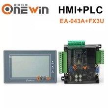 Samkoon EA-043A HMI Сенсорный экран 4,3 дюймов и FX3U серии PLC промышленная плата управления RS485 с DB9 коммуникационной линией