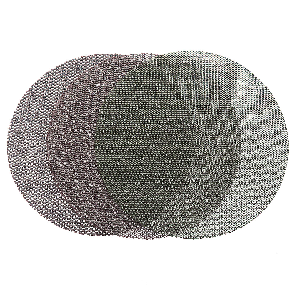 Mocha Mirka 4-Inch 100MM Dust-Free Sanding Screen Woven Nap Flocked Disc Sandpaper Anti-Blocking Type Dry Grinding Sandpaper