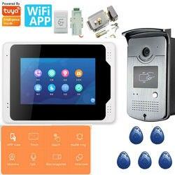7 ''Wifi wideo domofon telefoniczny System z blokadą drzwi odblokuj telefon Android / IOS Tuya APP