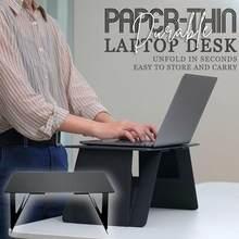 Papierowy cienki trwały biurko na laptopa do łóżka i biura rozkładaj w kilka sekund składany przenośny swobodnie dostosuj biurko na laptopa akcesoria biurowe