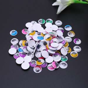 Doll-Eyes Baby 100pcs with Eyelashes for Stuffed-Toy Diy-Craft Self-Adhesive Mixed-Color