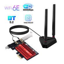 Wi-Fi 6E Intel AX210 двухдиапазонный PCIe Беспроводной Wi-Fi сетевой адаптер 2,4 ГГц/5G/6 ГГц 2400 Мбит Wi-Fi Карта Bluetooth 5,2 PCI Express Wlan