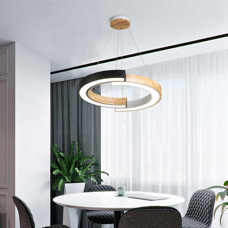 서클 라이트 Hanglamp 220V Led 룸 로프 조명 골드 북유럽 현대 매달려 라이트 다이닝 룸 링 펜던트 라이트 거실