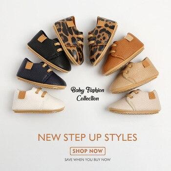 Zapatos Retro de cuero para bebé, mocasines Multicolor con suela de goma antideslizante para primeros pasos, para niño y niña