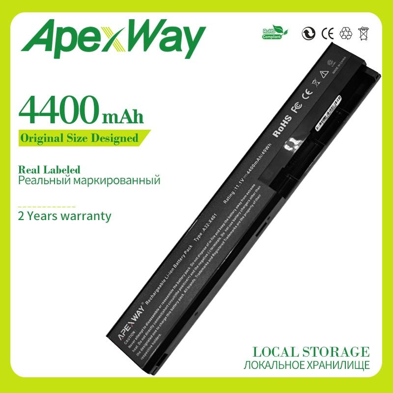 Apexway 11.1V  X501a Battery For Asus A31-X401 A32-X401 A41-X401 A42-X401 X401 X401A X401A1 X401U X501 X501A X501A1 X501U