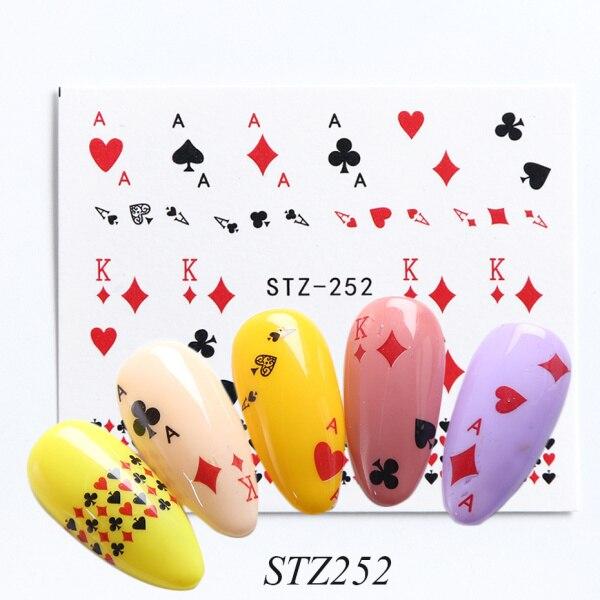 1 Lembar Spider Poker Desain Stiker Kuku Transfer Air Slider Decals Diy Kuku Seni Dekorasi Untuk Manikur Watermark Chble1341 Stiker Stiker Aliexpress