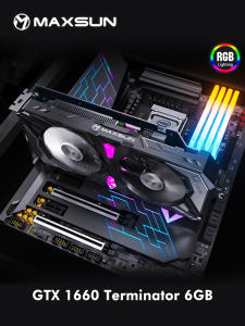 Graphic Card GPU GDDR5 Nvidia Maxsun Gaming Geforce Gtx 1660 6G PC