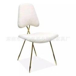 Silla de maquillaje, silla moderna y concisa, silla con personalidad princesa del norte de Europa, silla artística con corazón para chica