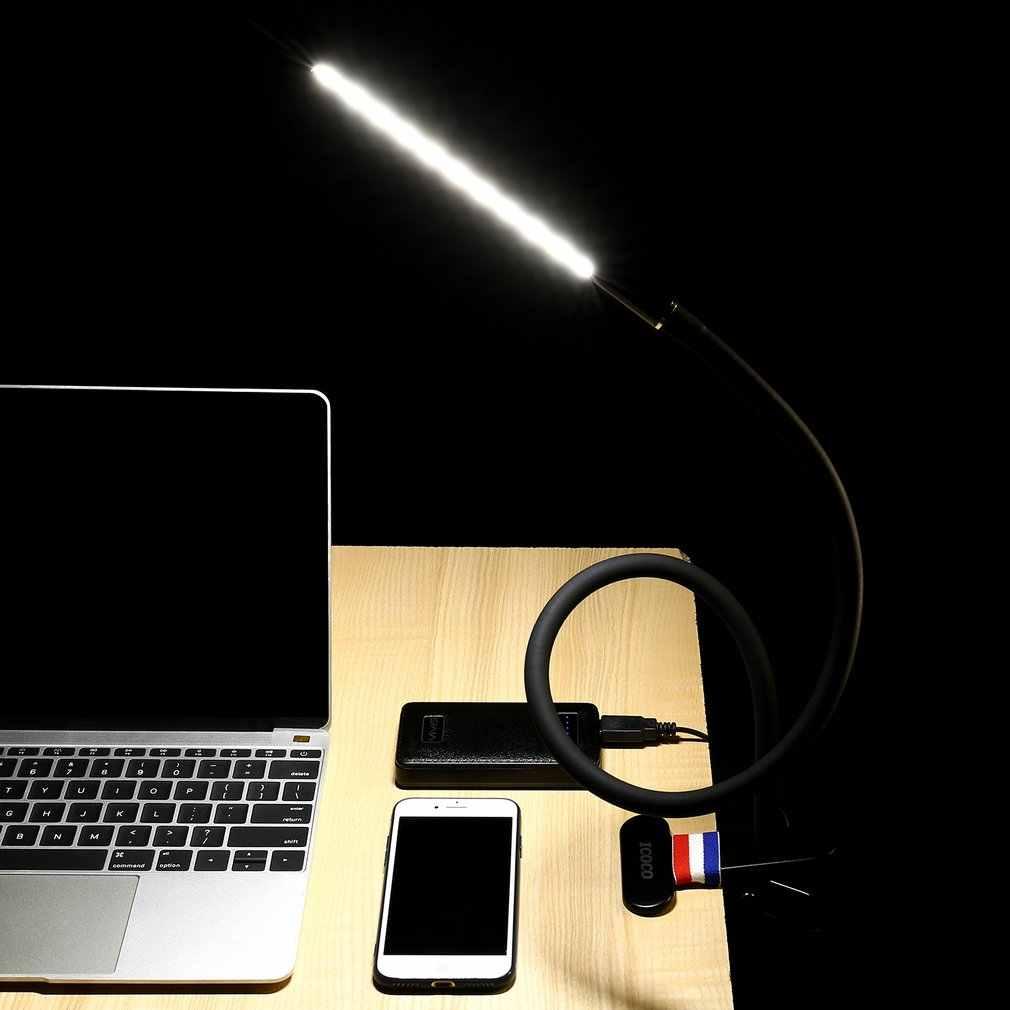 ICOCO лампа светодиодная с зажимом-клипсой настольная лампа для чтения лампа с удлиненной гибкой шеей и сенсорной чувствительной 4,5 Вт 4000-4500 к с зажимом