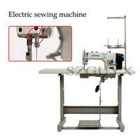 Computador carro liso máquina de costura industrial multifuncional casa máquina de costura elétrica com fio trimmer