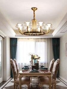 Image 4 - Modern Luxury Copper Creative Chandelier Lighting For Living/Dining Room American Light Nordic Lighting Fixture Indoor Lights