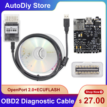 OpenPort 2.0 ECUFlash OBD Car Diagnostic Tools Connector For Subaru For Mitsubishi Supports Major OBD Protocols With CDs