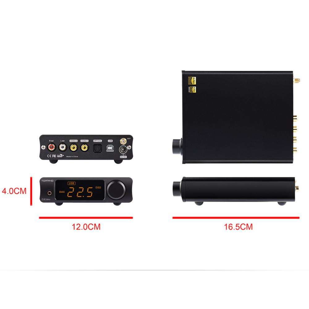 Image 4 - TOPPING DX3 PRO LDAC Edition Bluetooth decoding amp AK4493 USB DAC XMOS XU208 DSD512 hard solution Headphone output TPA6120A2-in Digital-to-Analog Converter from Consumer Electronics