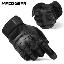 Touch Screen Hard Knuckle Tactical Gloves PU Leather Army Military Combat Airsoft Outdoor Sport Cycling Paintball Hunting Swat cheap macogear Microfiber Green Black Brown S M L XL Unisex Men Women Solid SWAT Tactical Shooting Paintball Combat Airsoft