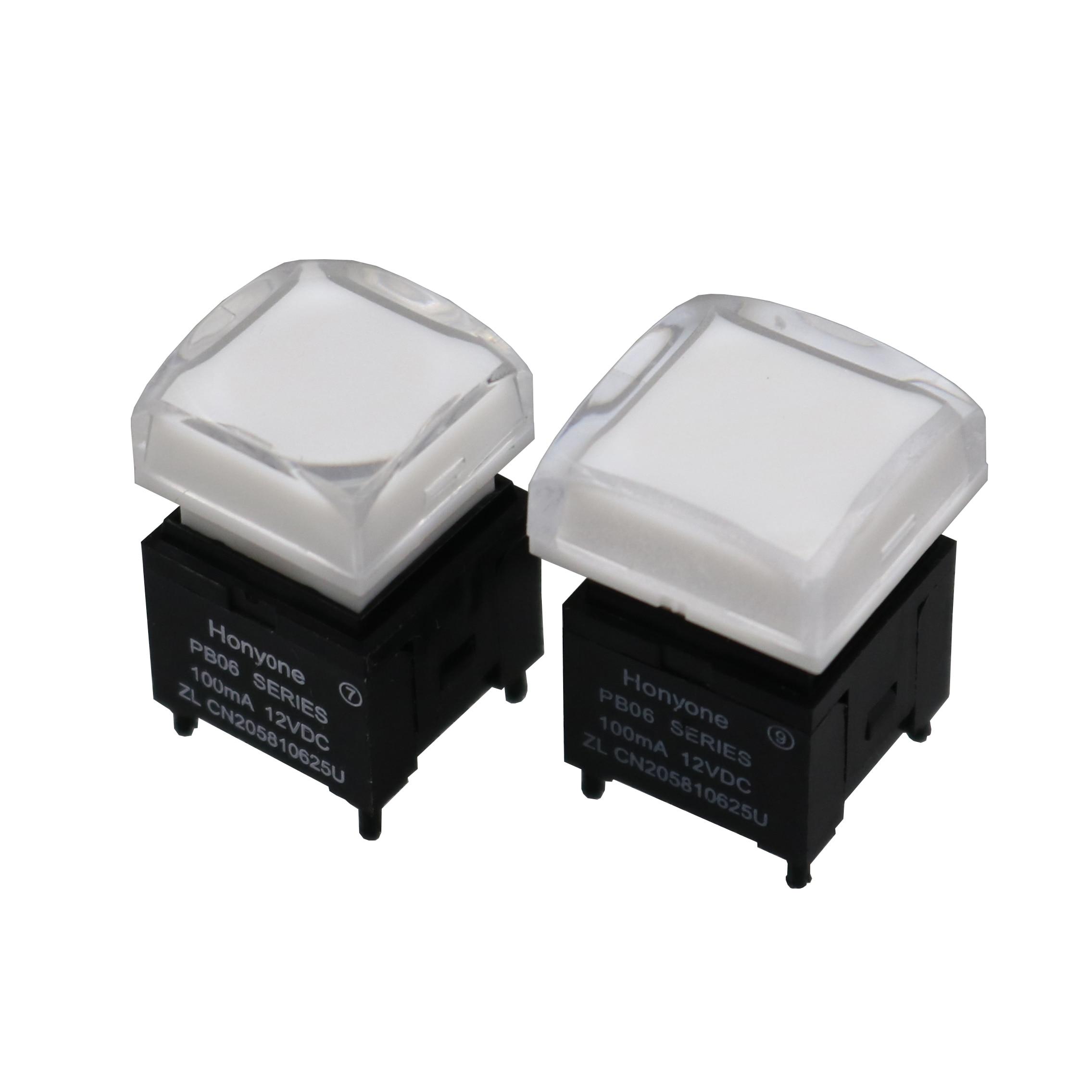 1 шт. 15 мм/17 мм прозрачная крышка фотографический/Мгновенный кнопочный переключатель с RGB светодиодной подсветкой SPST