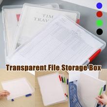 Storage-Box Document-Paper Desk-Organizer Filling-Case Clear Plastic A4 Transparent Escritorio