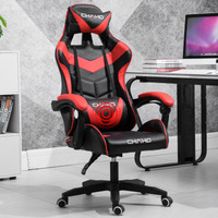 E Sports Computer Gaming Chair Home Modern Simple Lazy Office Racing Game With Pillow Foot Leather Chair Swivel Chair Seat