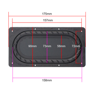 Image 2 - GHXAMP 175MM*90MM Bass diaphragm Low Frequency Radiator 5 Inch 6 Inch Passive Bass Film Enhanced Bass 2Pcs