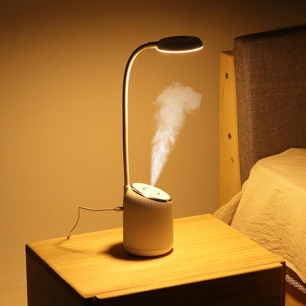 DIGOO DG-TD09 2W 280ML USB Charing Table Lamp Humidifier Bedroom Night Light 360 Degree Adjustment Air-Humidifier Multi-function