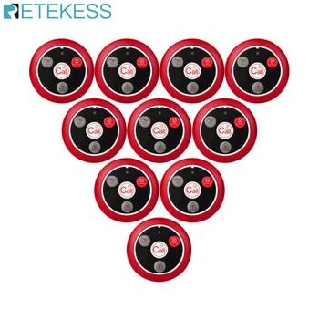 Retekess T117 10 pièces Restaurant boutons d'appel téléavertisseur sans fil serveur système d'appel téléavertisseur Service à la clientèle café église hôtel club