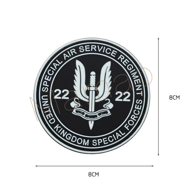 Special Air Service SAS Patch Who Dares Win Embroidered Hook /& Loop Patch P