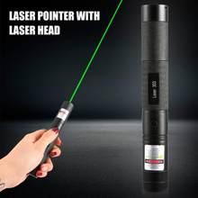 Poderosa caneta laser 303 foco ajustável 532nm ponteiro laser verde luz caneta ponteiro verde para caça escalada sem bateria