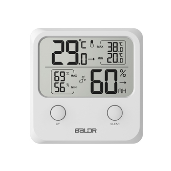 Baldr Mini cyfrowy lcd termometr higrometr elektroniczny temperatura ściana wilgotność Indooor Mini miernik ze stojakiem