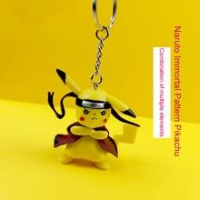 Hot Naruto Keychain Multi-Element Pikachu High-end Handmade Resin Keyring, Car Pendant Gift