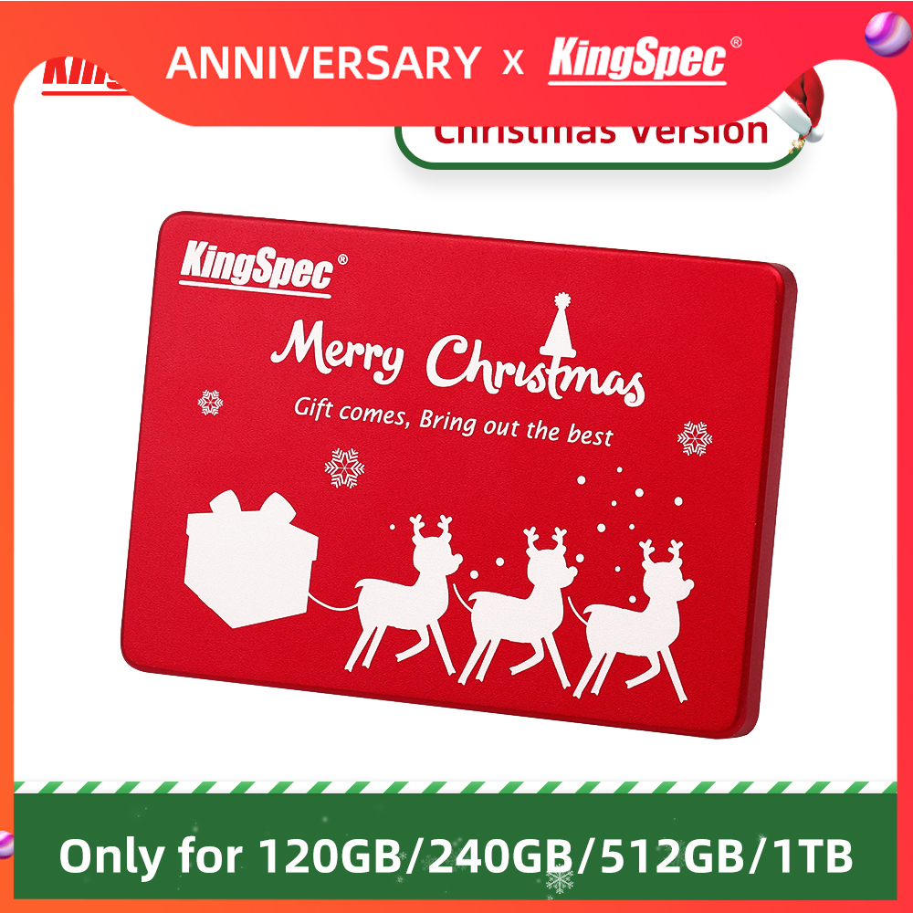 Christmas Gift KingSpec 120GB 240GB SATA3 SSD 512GB 1TB Internal SATA3 Hard Drive Red Metal Case For Desktop Laptop Tablets