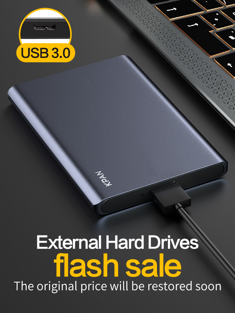 KPAN HDD 1Tb Usb 3.0 External Hard Disk Drive 2TB 500G High Disco Externo HDD Usb Storage Device PS4,TV Box Desktop Flash