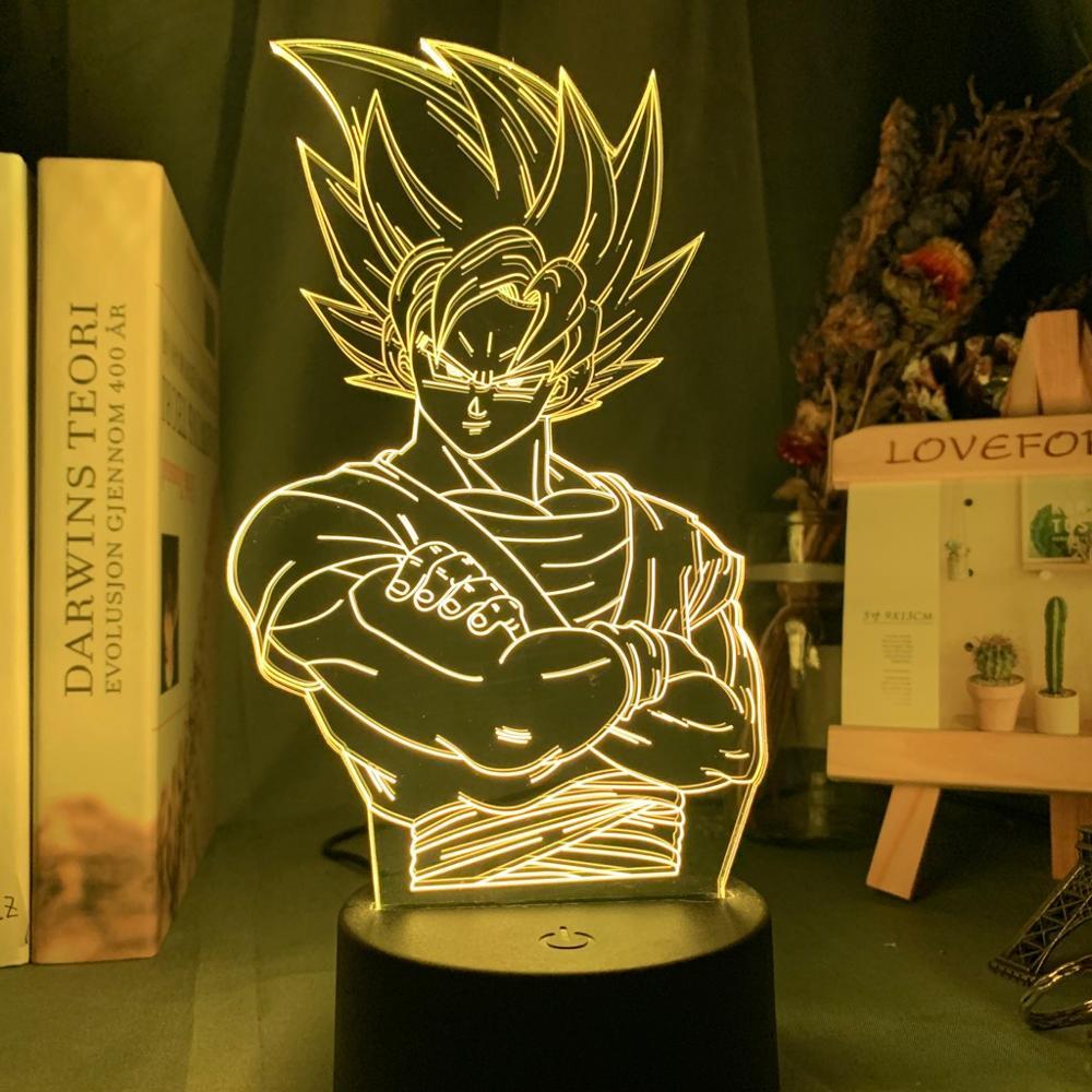 Dragon Ball Lamp Goku Figure Child Bedroom Decor Nightlight Kids Birthday Gift Anime Gadget Led Night Light 3d Lamp Dropshipping