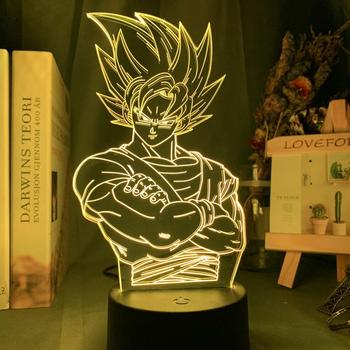 Dragon Ball Lamp Goku Figure Child Bedroom Decor Nightlight Kids Birthday Gift Anime Gadget Led Night Light 3d Lamp Dropshipping 3d led night light baby light goku anime bedroom decoration night light 16 color change usb table lamp dragon ball gift toy