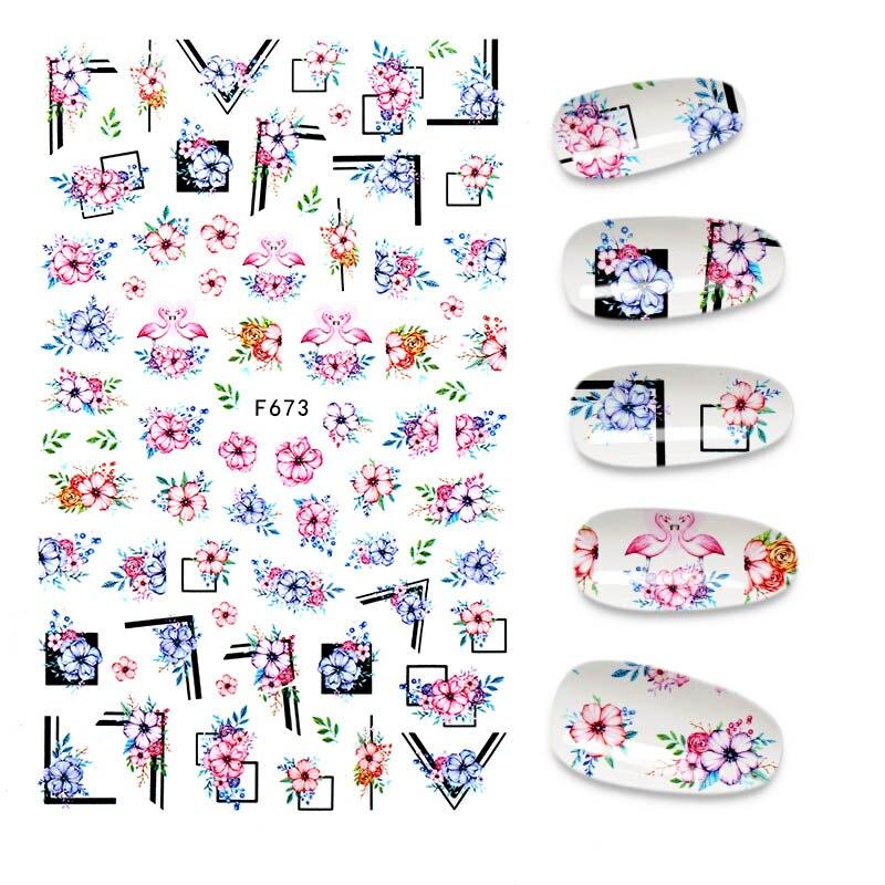 1 шт. 3D розовые блестки для ногтей наклейки Переводные картинки с бабочками ползунки Ретро ногтей Клей дизайн всё для маникюра