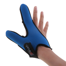 2 Fingers Fishing Gloves Thumb Index Finger With Adjustable Wrist Strap Anti-slip Protector Tools Accessor