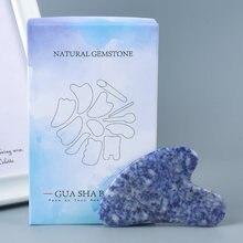 Натуральный кальдалитовый камень для лица гуаша инструмент массажа