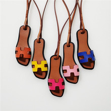 Brand New Sandals Bag Charms PU Leather Keychain Fashion Shoe Charm Slipper Handbag Pendant Keyring Trendy Hot Sale