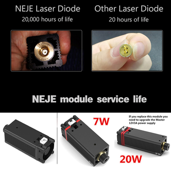 Powerful 20W 450nm blue laser module DIY laser head for Master Series CNC laser engraving machine Accessory with Wrench 1500mw cnc laser cutter cnc router laser head 405nm laser engraver accessory for diy carving engraving machine with violet light