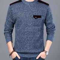 2019 New Fashion Sweater For Mens Pullovers Slim Fit Jumpers Knitwear O Neck Autumn Korean Style Casual Clothing Male