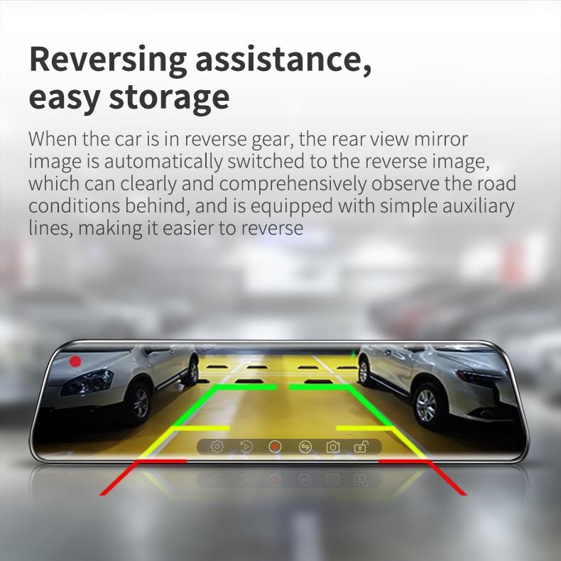 H8258124721754695baf19604a08c42b6n - 12インチ バックミラー カー DVR カメラ GPS FHD デュアル1080Pレンズ 駐車24時間モーション検知
