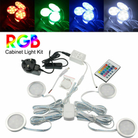 Cabinet Light Decoration Kit Display Lamp RGB Led Wardrobe Showcase Ultra Thin Panel With Cable Recessed Under Night Kitchen