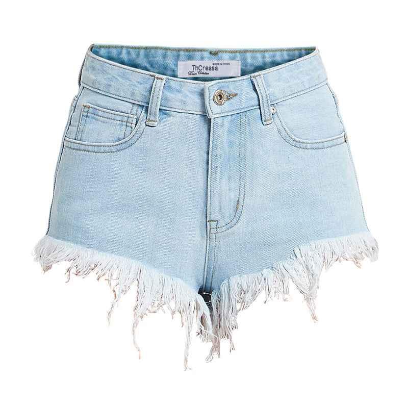 2020 nuove Donne di Estate Brevi Jeans Rotto Nappe Sexy Hip Alzando Mini Denim Strappato Tasche Shorts con Burr Femminile
