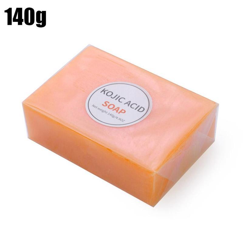 140g kojic ácido sabonete feito à mão pele escura limpeza clareamento glicerina clarear a pele do corpo da cara que clareia o sabão do banho para a pele preta