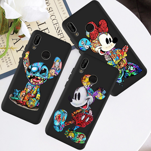 cartoon marvel Stitch Minnie mouse phone case For Huawei P8 P10 P20 P30 Mate 10 20 Honor 8 8X 8C 9 10 V20 Lite Plus Pro coque(China)