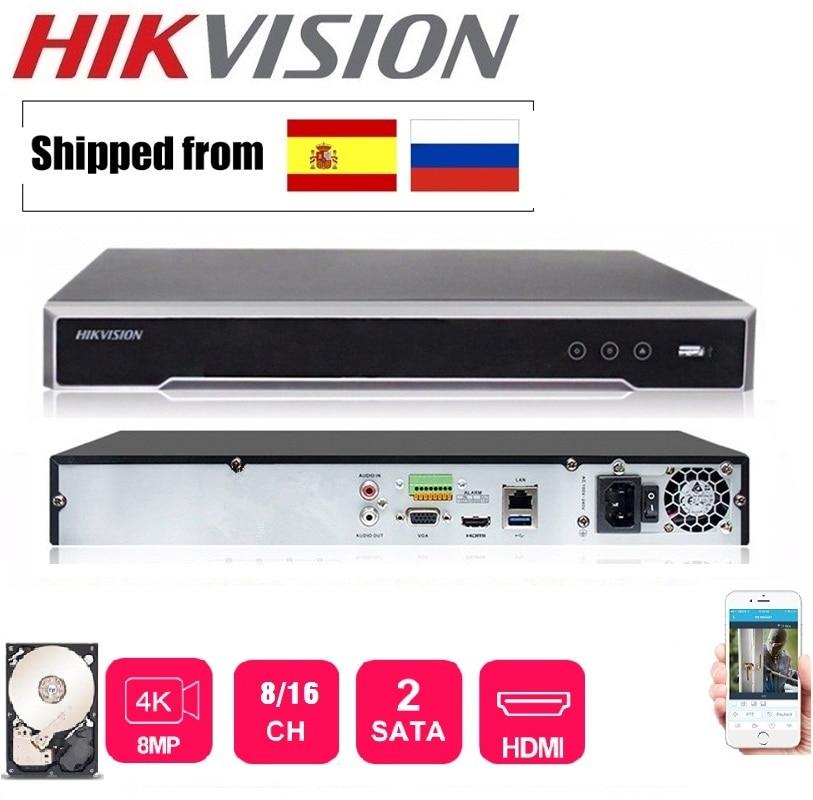 Orginal Hikvision DS-7608NI-K2 Englisch 8CH KEINE POE Version 4K H.265 NVR Netzwerk Video Recorder unterstützt 2 stück HDD