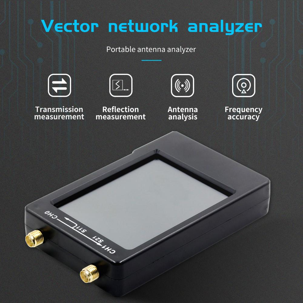 Neue NanoVNA-H 50KHz ~ 1,5 GHz VNA 2,8 zoll LCDHF VHF UHF UV Vector Network Analyzer Antenne analysator 50MAh Batterie Antenne Analysator